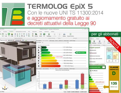 TERMOLOG EpiX 5 - il futuro è in class A+