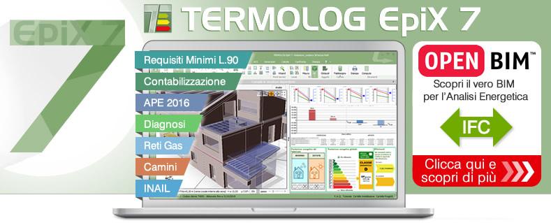 TERMOLOG EpiX 7 - Progetto e Certificazione con il nuovo APE
