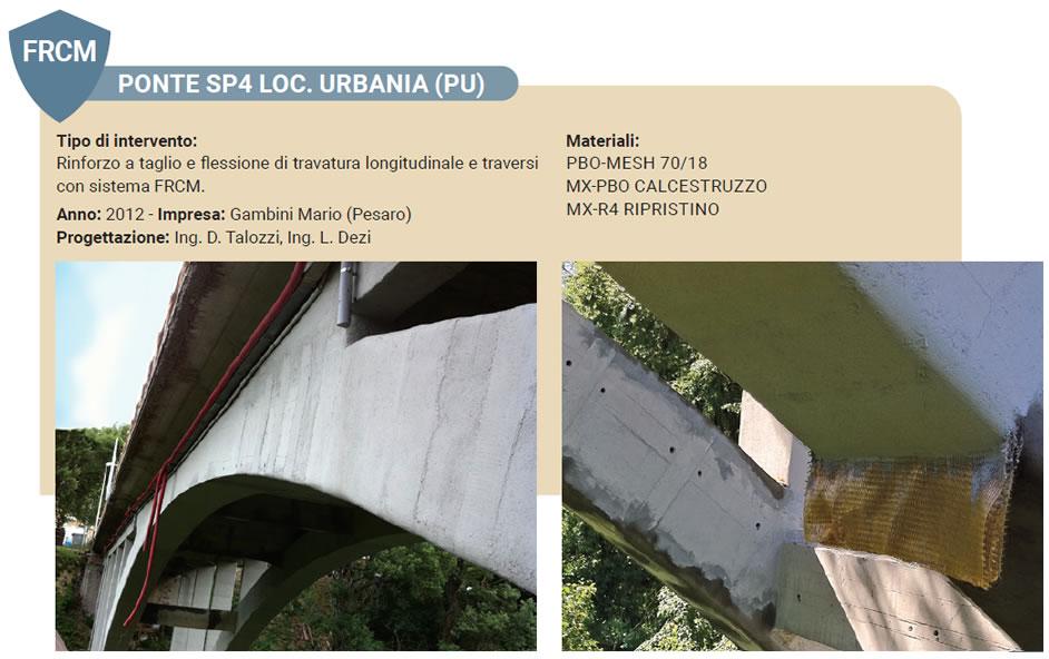 Esempio di rinforzo strutturale con FRCM per un ponte stradale