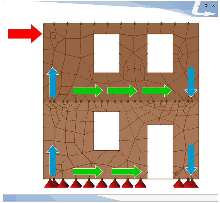 Per effetto dell'azione sismica agente su una parete si presentano meccanismi di ribaltamento e scorrimento nel piano. Le connessioni in acciaio hanno il compito di contrastare questi meccanismi e deformandosi in campo plastico conferiscono all'edificio elevata duttilità