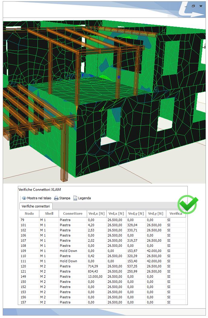 TRAVILOG consente di analizzare e verificare tutte le componenti che costituiscono gli edifici in XLAM