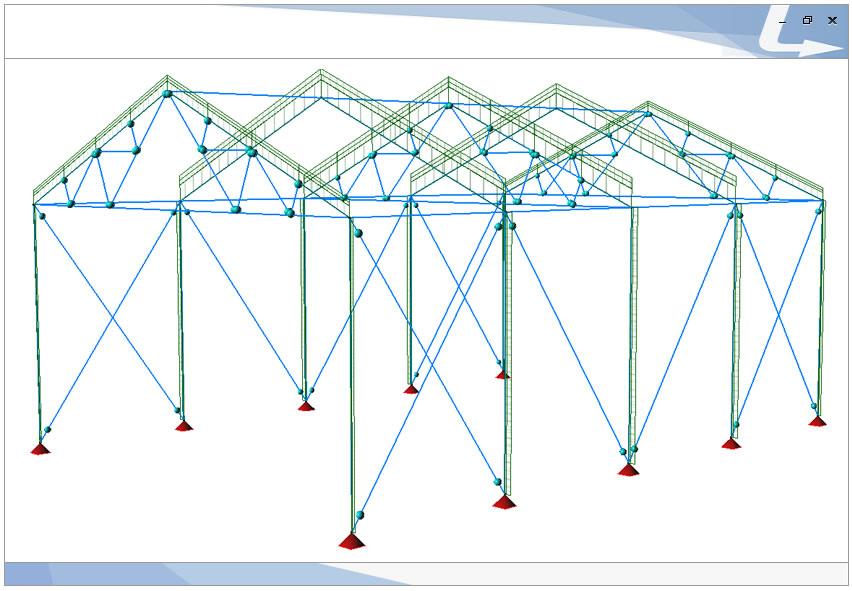 Schema statico per una struttura in acciaio