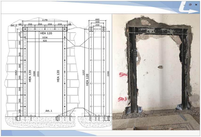 Schema di montaggio ed esecuzione di una cerchiatura