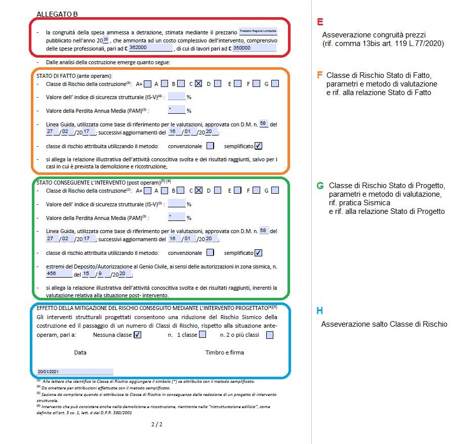 Pratica Sismabonus, Allegato B - pagina 2