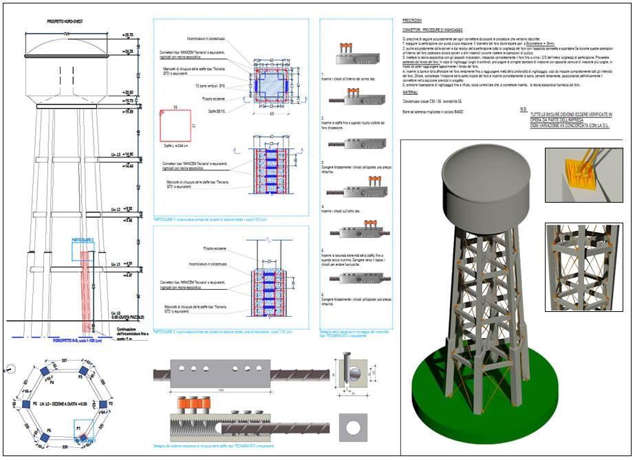 Progetto degli interventi per il recupero edilizio del serbatoio idrico a torre