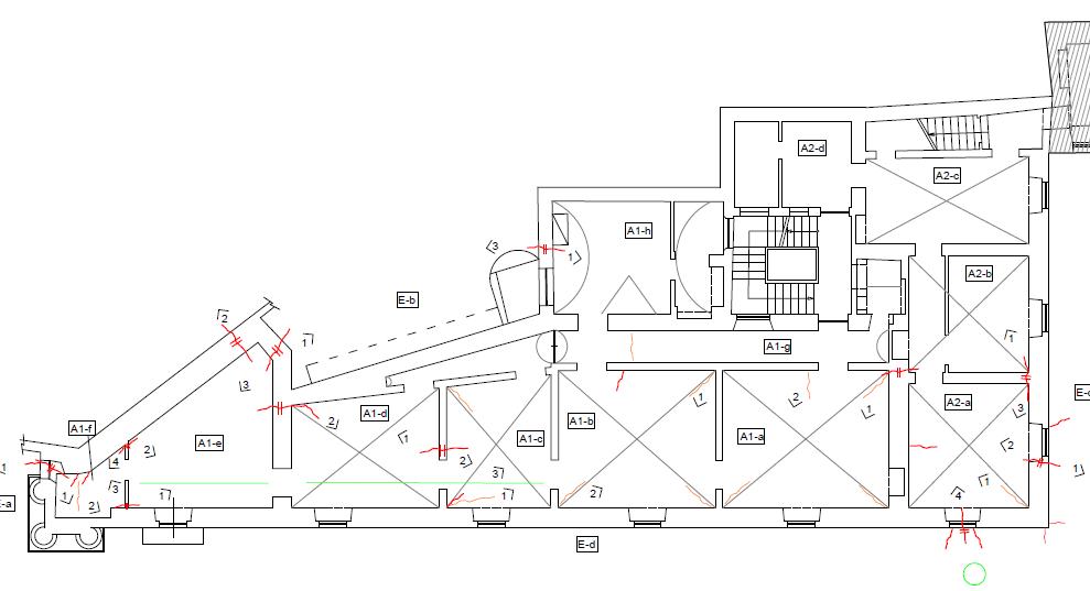 Caso II - edificio con danno grave