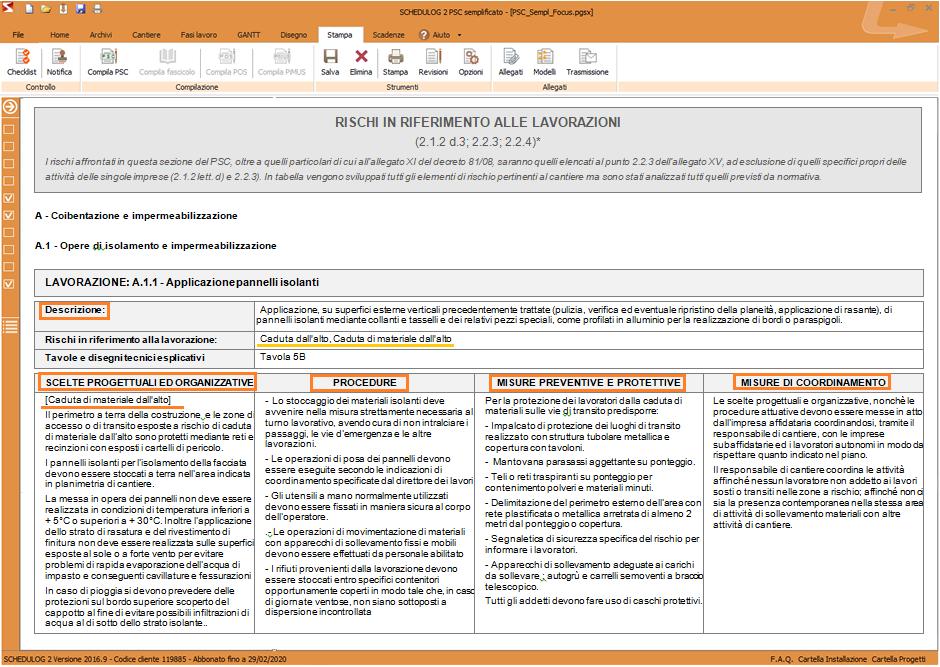 Schema dei RISCHI trattati nel Piano Operativo di Sicurezza (POS)