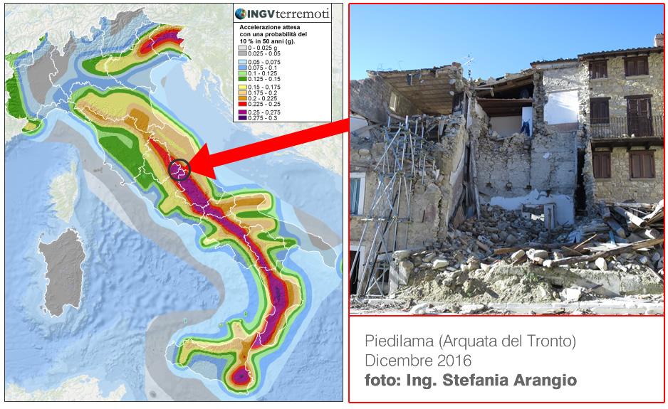 Mappa di periclosità sismica