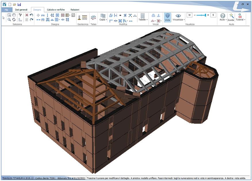 Immagine 2 - Edificio esistente in muratura con TRAVILOG