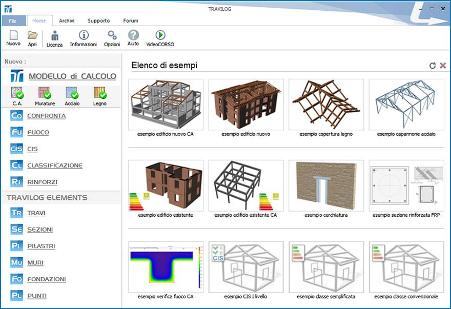 La nuova schermata iniziale ti guida nella funzioni e nella modularità di TRAVILOG