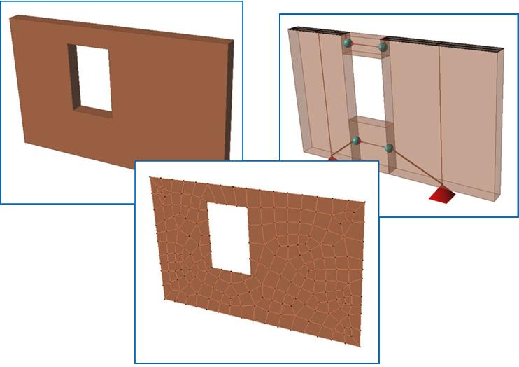 Nuove funzioni per la modellazione con elementi shell di edifici in muratura.