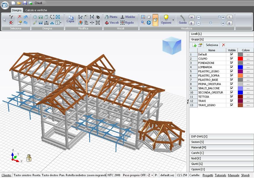Calcoli strutturali in cemento armato acciaio e legno for Strutture metalliche dwg